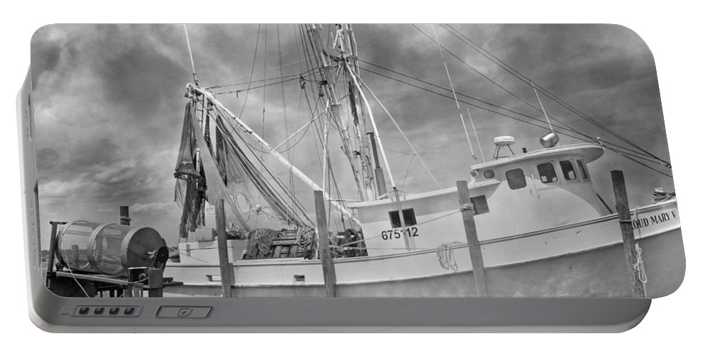 Ship Portable Battery Charger featuring the photograph At Rest In The Harbor by Betsy Knapp