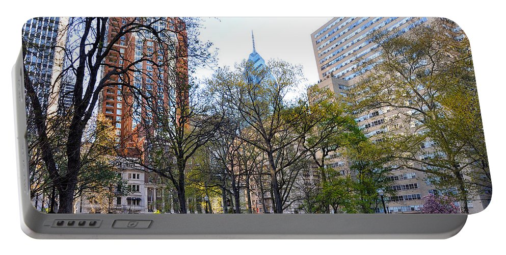 Rittenhouse Portable Battery Charger featuring the photograph At Rittenhouse Square by Bill Cannon