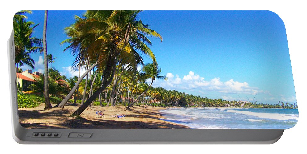 Palmas Del Mar Portable Battery Charger featuring the photograph At The Beach Palmas Del Mar by Marilyn Holkham