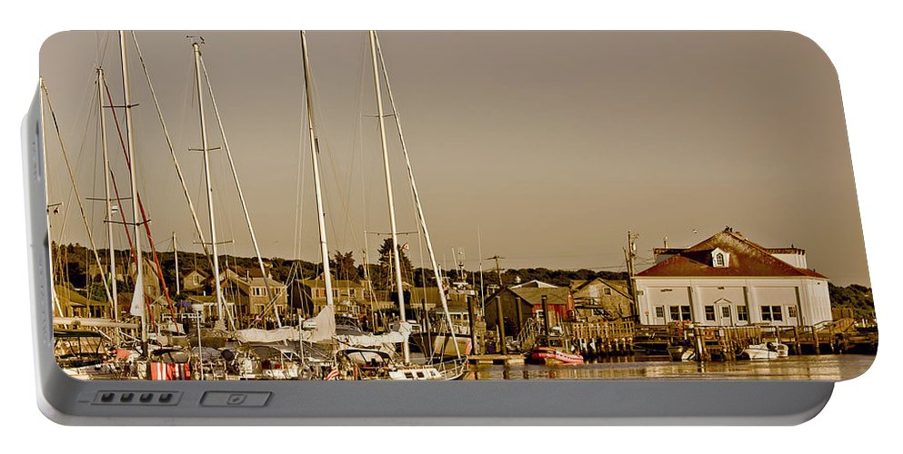Boat Portable Battery Charger featuring the photograph At The Harbor - Martha's Vineyard by Kim Hojnacki