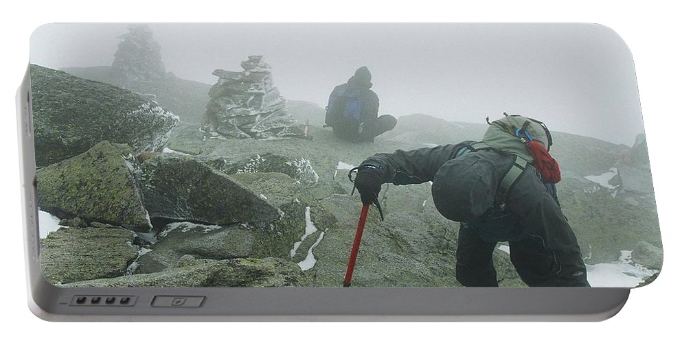 Mt Washington Portable Battery Charger featuring the photograph At The Pinnacle Of Choice by Jim Cook