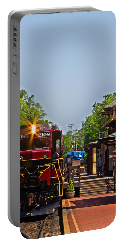 Bucks Portable Battery Charger featuring the photograph At The Station by Tom Gari Gallery-Three-Photography