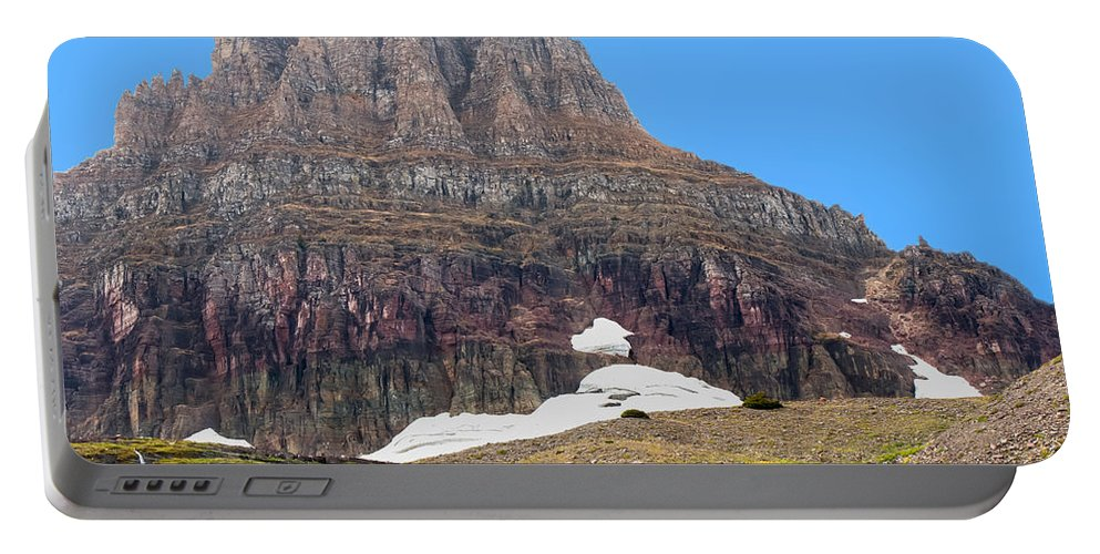 Sky Portable Battery Charger featuring the photograph At The Top Of Logan's Pass by John M Bailey