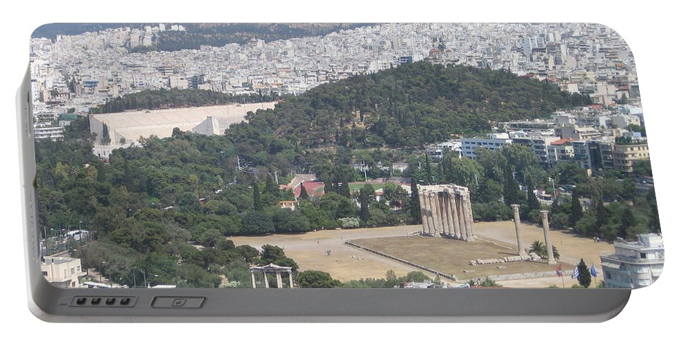 Zeus Portable Battery Charger featuring the photograph Athens 3 by Kimberly Maxwell Grantier