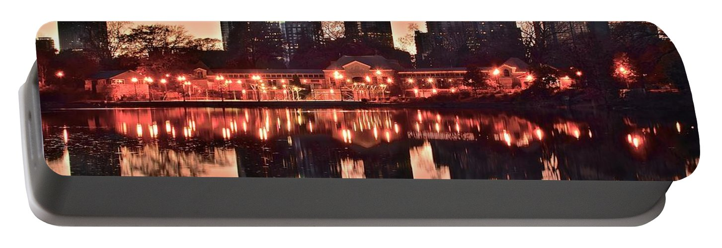 Atlanta Portable Battery Charger featuring the photograph Atlanta Piedmont Pink by Frozen in Time Fine Art Photography