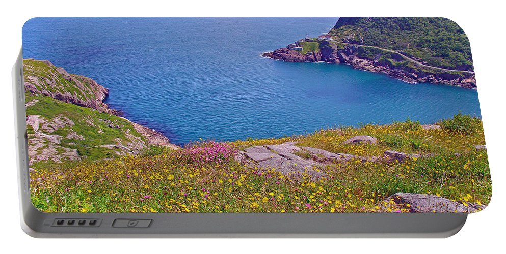 Atlantic Ocean From Signal Hill National Historic Site In Saint John's Portable Battery Charger featuring the photograph Atlantic Ocean From Signal Hill National Historic Site In Saint John's-nl by Ruth Hager