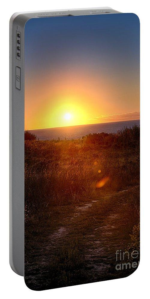Atlantic Ocean Portable Battery Charger featuring the photograph Atlantic Sunrise by John Greim