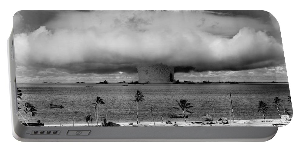 Atomic Portable Battery Charger featuring the photograph Atomic Bomb Test by Mountain Dreams