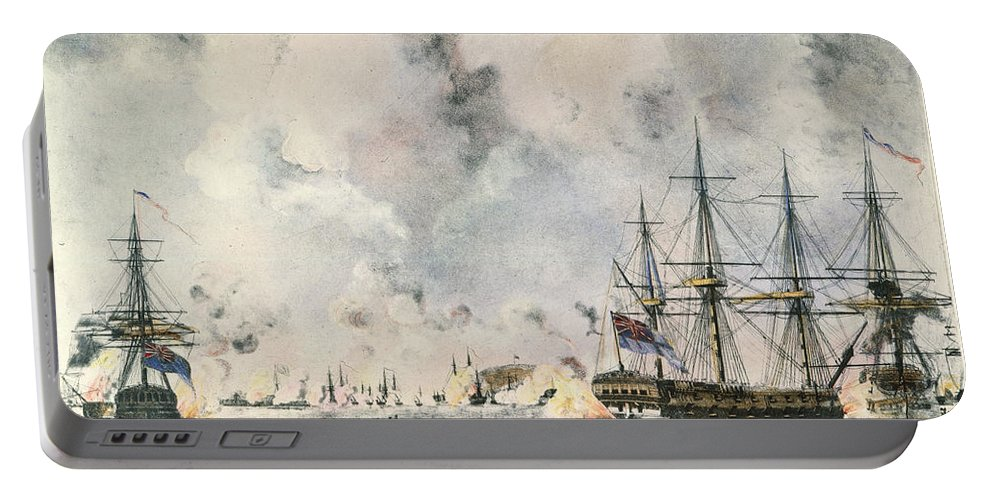 1777 Portable Battery Charger featuring the photograph Attack On Fort Mifflin, 1777 by Granger