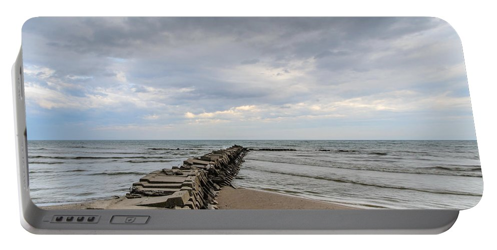 Atwater Portable Battery Charger featuring the photograph Atwater Pier by Randy Scherkenbach