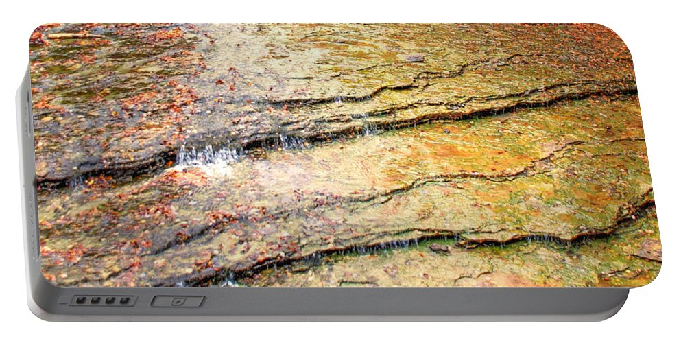 Optical Playground By Mp Ray Portable Battery Charger featuring the photograph Au Train Falls IIi by Optical Playground By MP Ray