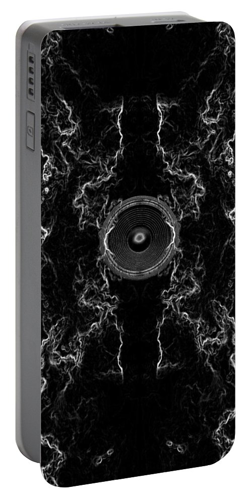 Festival Portable Battery Charger featuring the digital art Audio Mono by Steve Ball