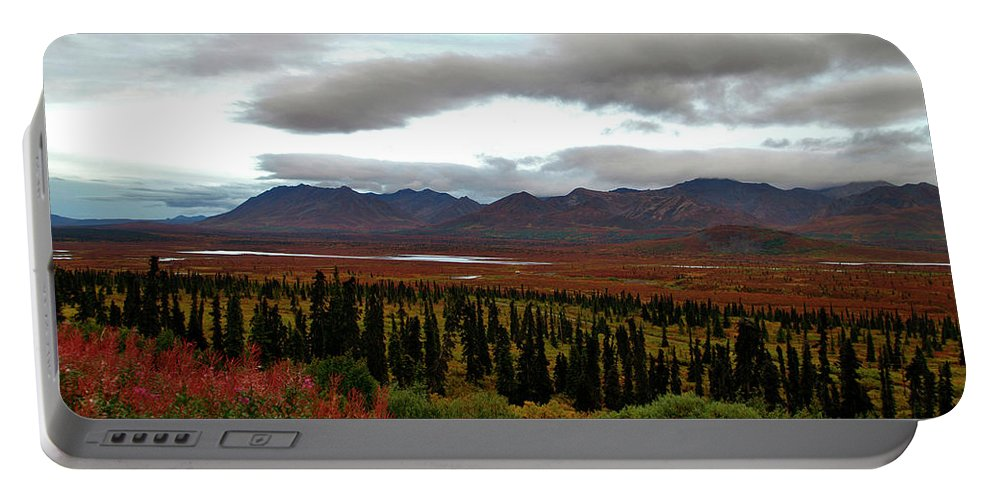 Alaska Portable Battery Charger featuring the photograph August In Alaska by Jeremy Rhoades