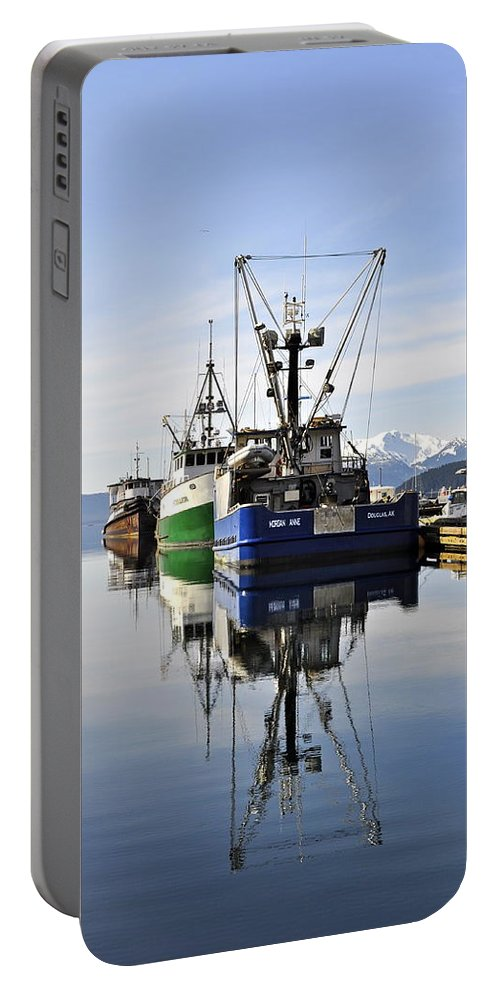 Auke Bay Portable Battery Charger featuring the photograph Auke Bay Reflection by Cathy Mahnke