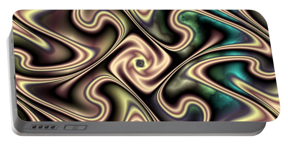 Aurora Portable Battery Charger featuring the digital art Aurora by Kimberly Hansen