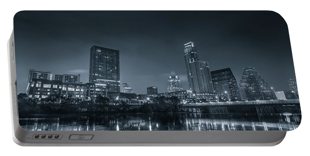 Austin Portable Battery Charger featuring the photograph Austin Skyline by David Morefield