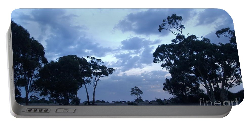 Digital Color Photo Portable Battery Charger featuring the digital art Australian Countryside by Tim Richards
