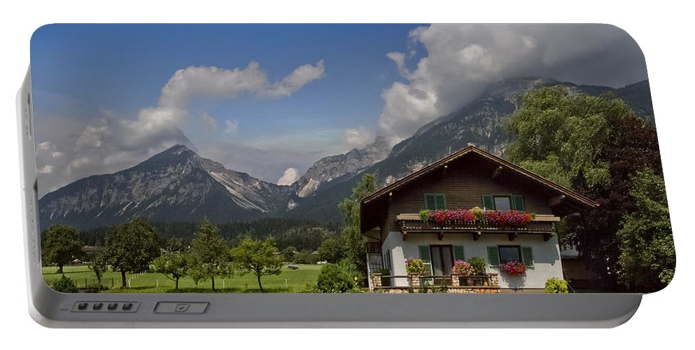 Austria Portable Battery Charger featuring the photograph Austrian Cottage by Debra and Dave Vanderlaan