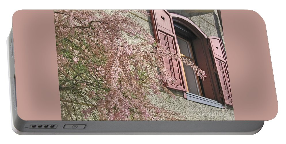 Pink Portable Battery Charger featuring the photograph Austrian Spring by Ann Horn