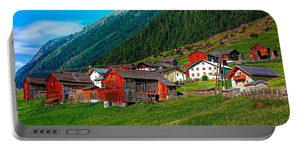 Austria Portable Battery Charger featuring the photograph Austrian Village by Steve Harrington