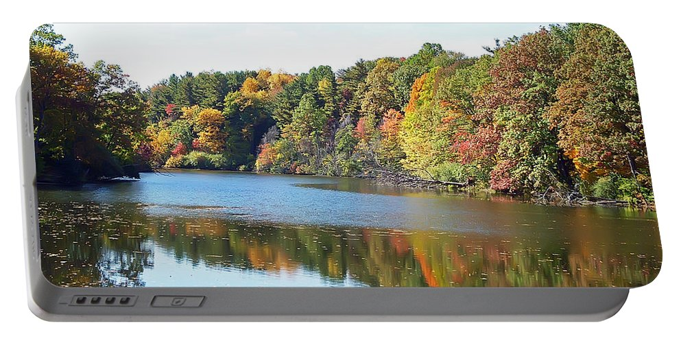 Durand Eastman Park Portable Battery Charger featuring the photograph Autumn At Durand by Aimee L Maher ALM GALLERY