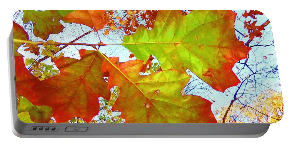 Red Leaves Portable Battery Charger featuring the photograph Autumn Bliss by Robert ONeil