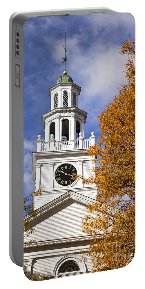 First Portable Battery Charger featuring the photograph Autumn Church by Brian Jannsen