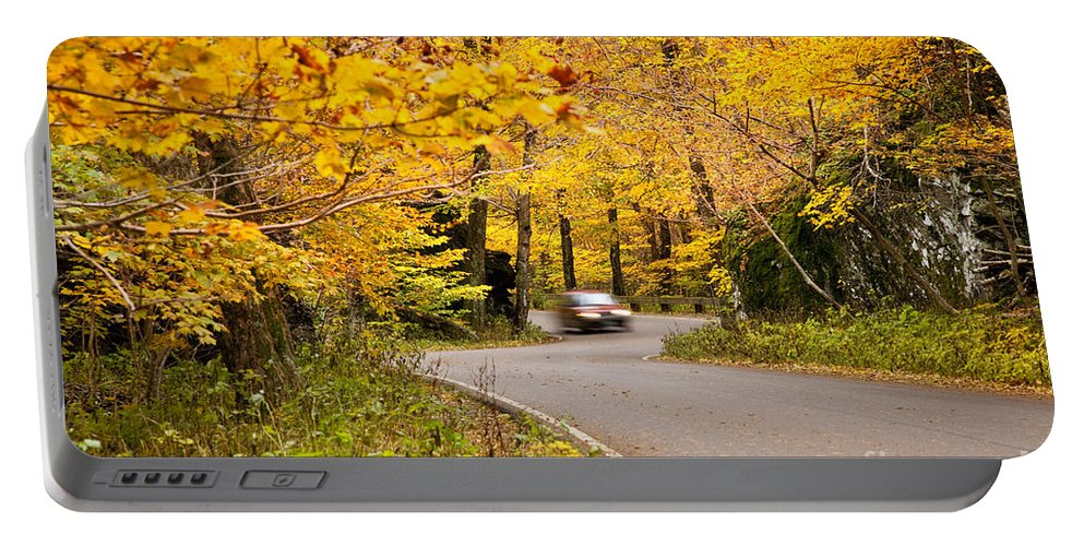 Smugglers Portable Battery Charger featuring the photograph Autumn Drive by Brian Jannsen