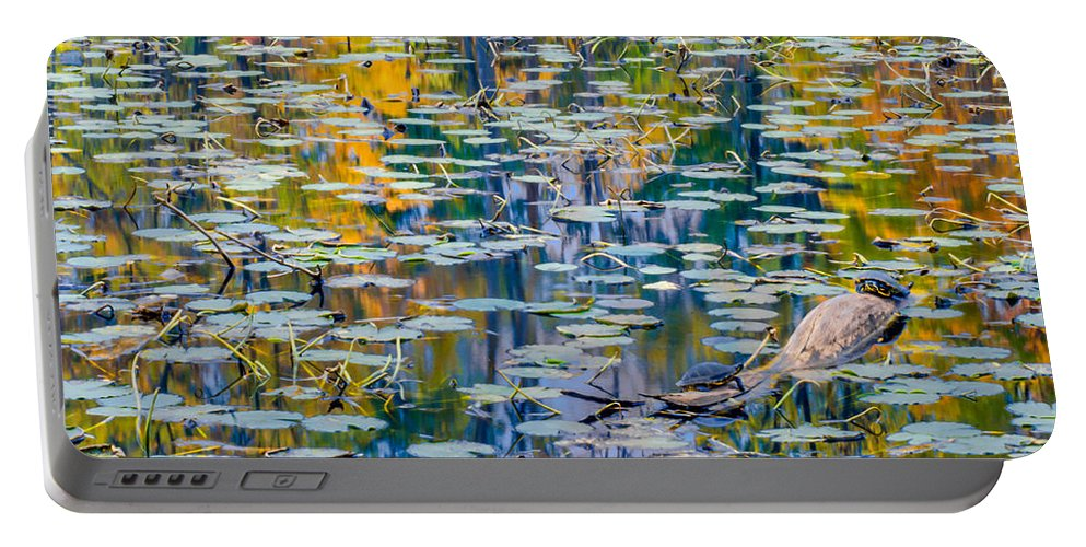 Optical Playground By Mp Ray Portable Battery Charger featuring the photograph Autumn Fanaticism by Optical Playground By MP Ray