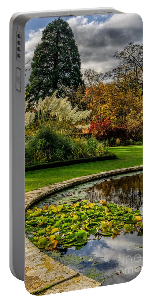 Pond Portable Battery Charger featuring the photograph Autumn Garden by Adrian Evans