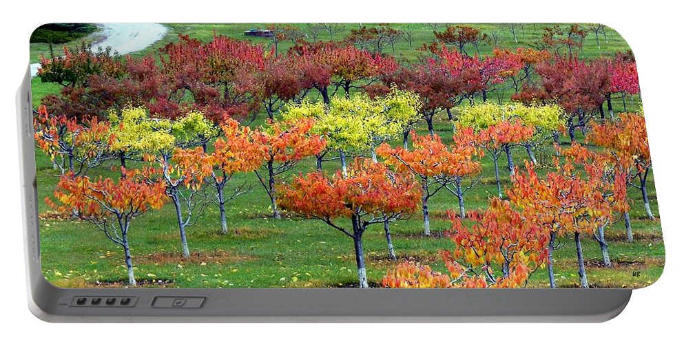 Orchard Portable Battery Charger featuring the photograph Autumn Hillside Orchard by Will Borden