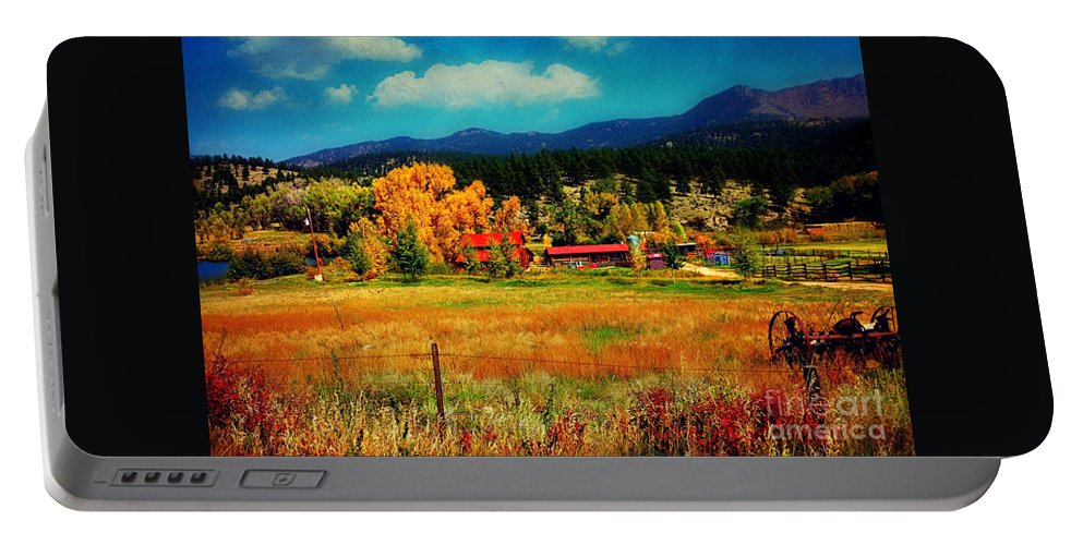 Autumn Portable Battery Charger featuring the photograph Autumn In Colorado by Beth Ferris Sale