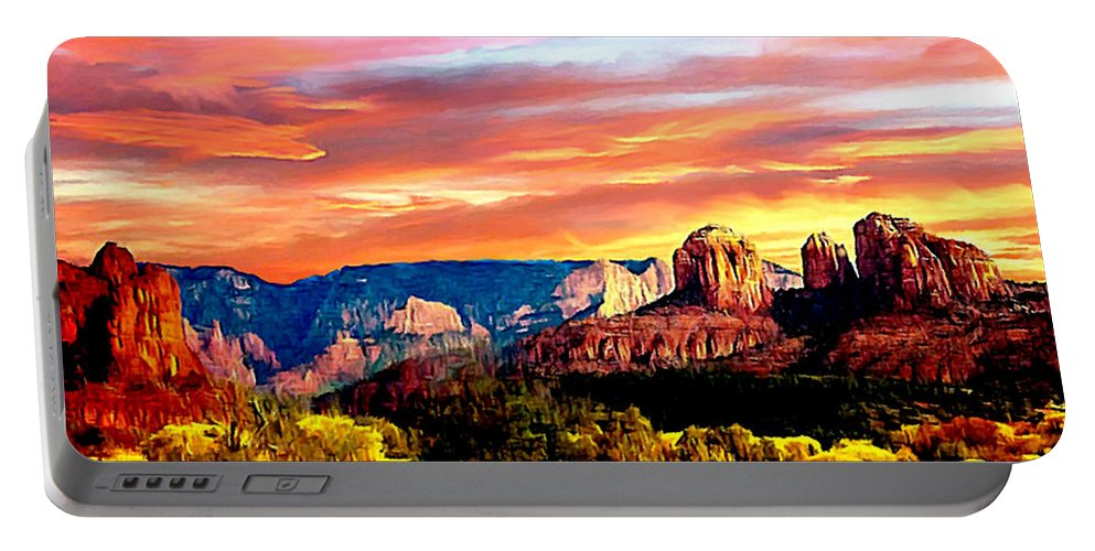 America Portable Battery Charger featuring the photograph Autumn In Red Rock State Park by Bob and Nadine Johnston