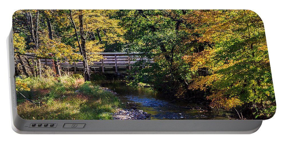 Brook Portable Battery Charger featuring the photograph Autumn In Stillwater by Eleanor Abramson