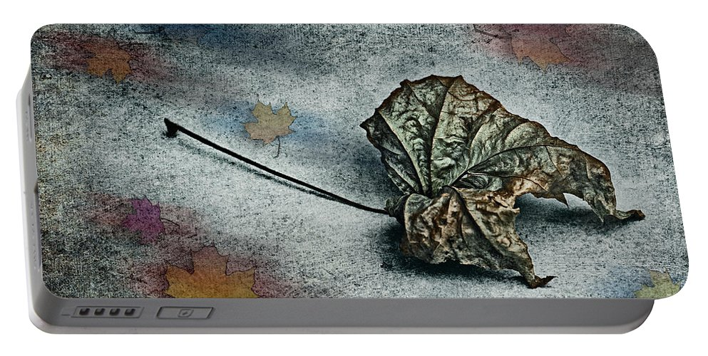 Photo Portable Battery Charger featuring the photograph Autumn Is Around The Corner by Jutta Maria Pusl