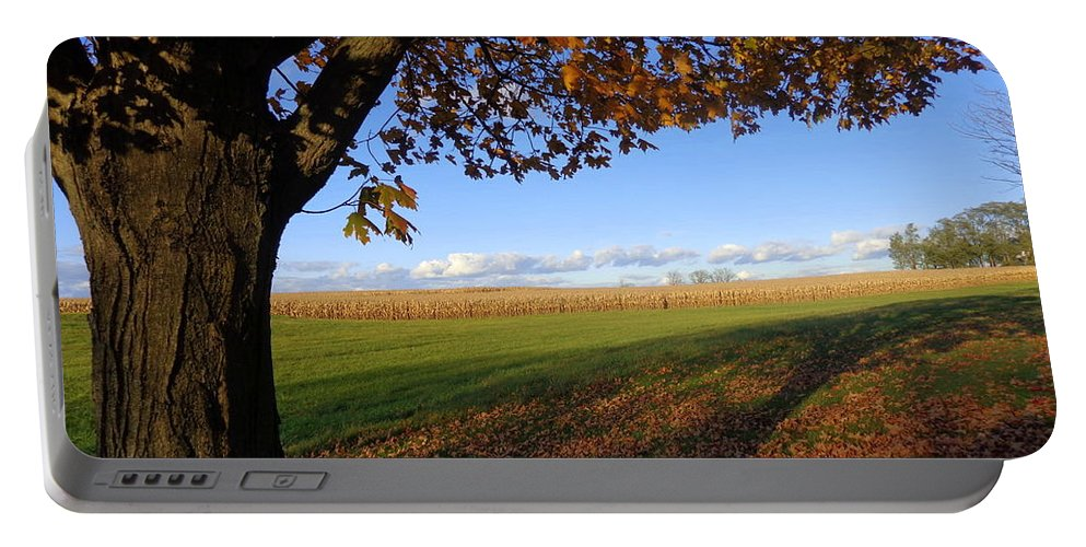 Joseph Skompski Portable Battery Charger featuring the photograph Autumn Landscape by Joseph Skompski