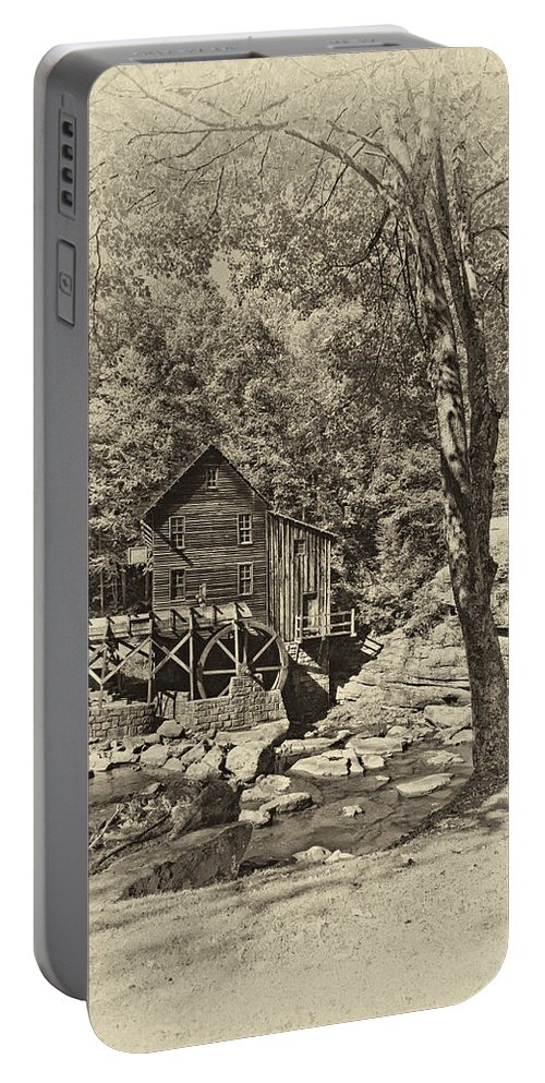 West Virginia Portable Battery Charger featuring the photograph Autumn Mill 2 Antique by Steve Harrington