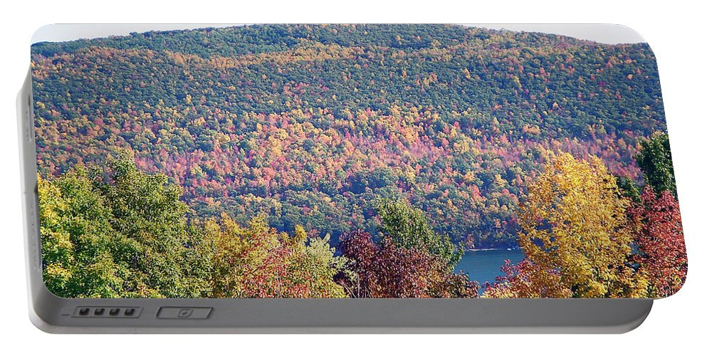 Landscape Portable Battery Charger featuring the photograph Autumn Mountain by Aimee L Maher ALM GALLERY