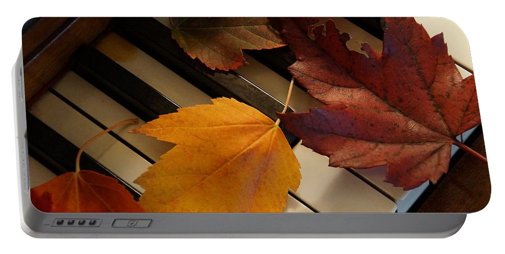 Autumn Portable Battery Charger featuring the photograph Autumn Piano 2 by Mick Anderson