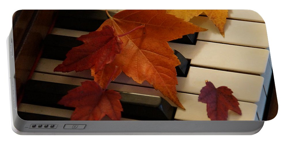 Autumn Portable Battery Charger featuring the photograph Autumn Piano 6 by Mick Anderson