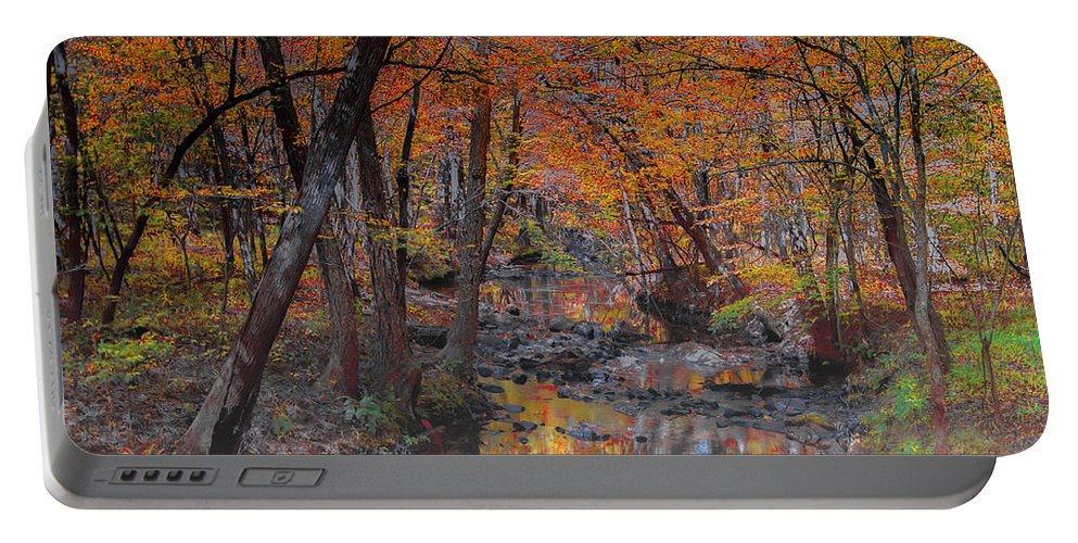Light Portable Battery Charger featuring the photograph Autumn Reflection by Scott Hervieux