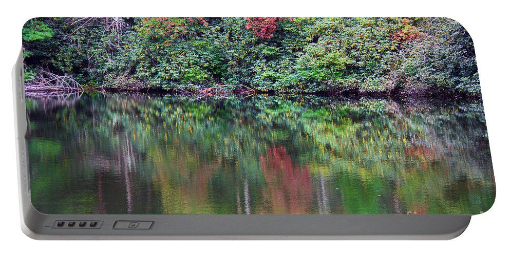 Landscape Portable Battery Charger featuring the photograph Autumn Reflections by Melissa Petrey