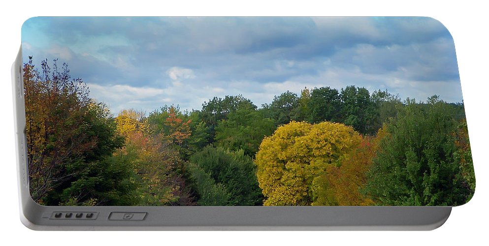 Autumn Portable Battery Charger featuring the photograph Autumn Road by Aimee L Maher ALM GALLERY