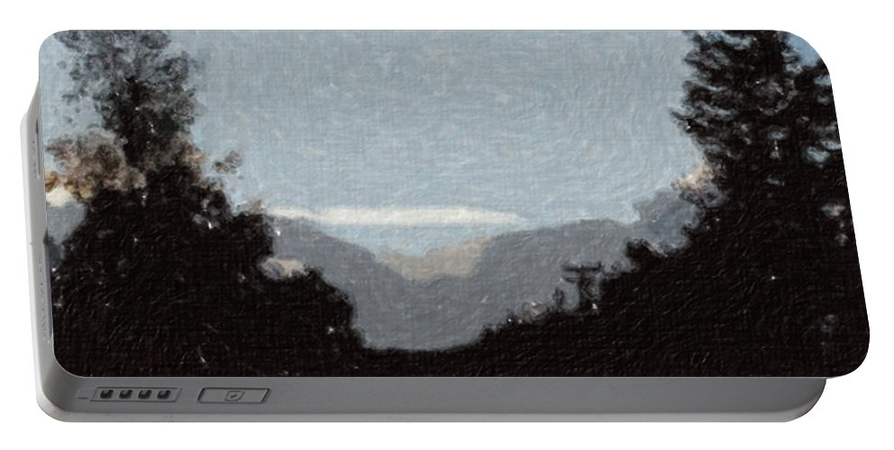 Autumn Portable Battery Charger featuring the painting Autumn Roads by Sergey Bezhinets