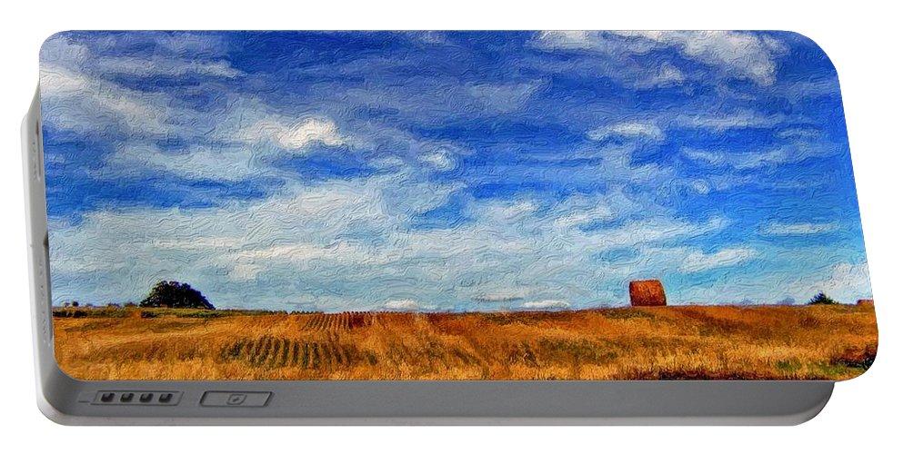 Ontario Portable Battery Charger featuring the photograph Autumn Sky Impasto by Steve Harrington
