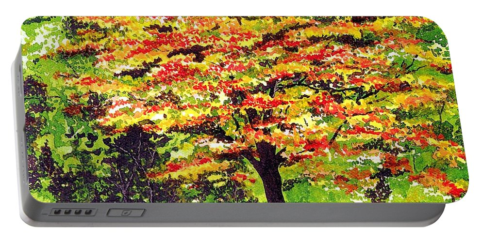 Fine Art Portable Battery Charger featuring the painting Autumn Splendor by Patricia Griffin Brett