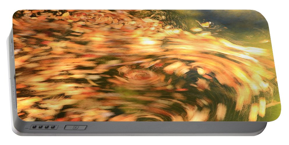 Abstract Portable Battery Charger featuring the photograph Autumn Swirl by Roupen Baker