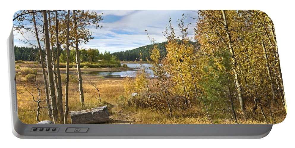 Spooner Portable Battery Charger featuring the photograph Autumn View At Spooner by Dianne Phelps