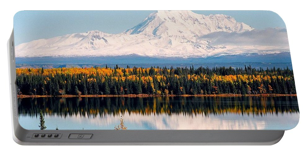 Alaska Portable Battery Charger featuring the photograph Autumn View Of Mt. Drum - Alaska by Juergen Weiss
