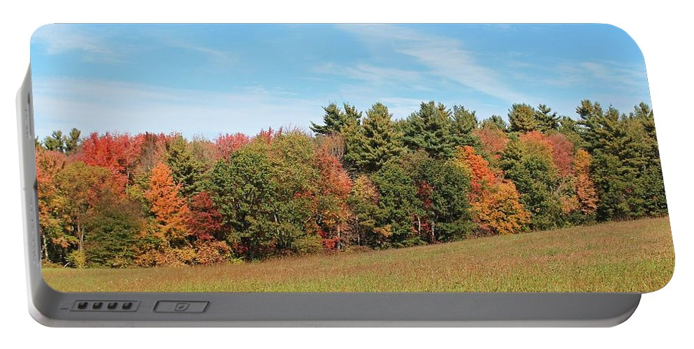 Autumn Portable Battery Charger featuring the photograph Autumnal Wave by Michael Saunders